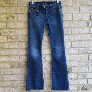 Gorgeous Silver Jeans Tuesday Flap Sz W26/L35